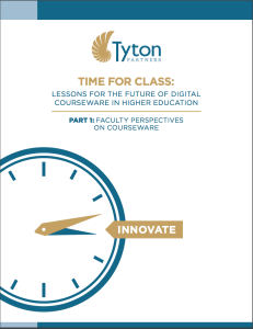 Cover image of Part 1 of Time for Class-  Lessons for the Future of Digital Courseware in Higher Education