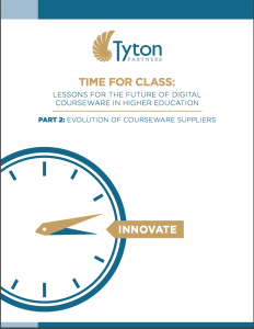 Cover of Tyton Series Part 2 Time for Class-  Lessons for the Future of Digital Courseware in Higher Education