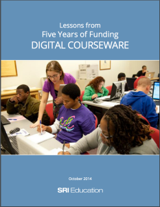 Covere of SRI Digital Courseware Research