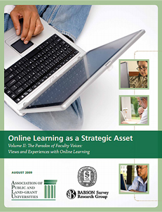 2009 - Strong Faculty Engagement in Online Learning APLU Reports