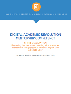 Digital Academic Revolution Mentorship Competency #1 The Declaration