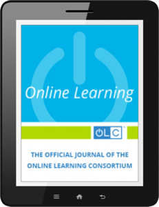 Online Learning Journal Special Edition: Learning Analytics