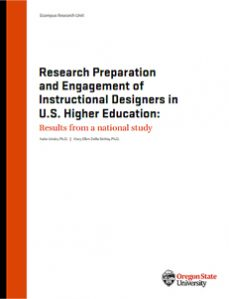 Research Preparation and Engagement of Instructional Designers in U.S. Higher Education - Results from a national study