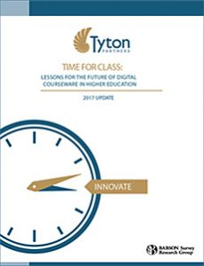 Time for Class 2017 - Tyton Partners Research Study