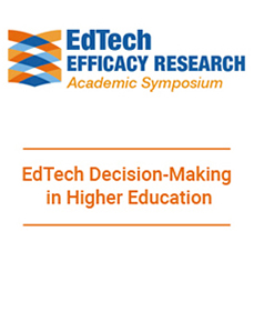 EdTech Decision-Making in Higher Education