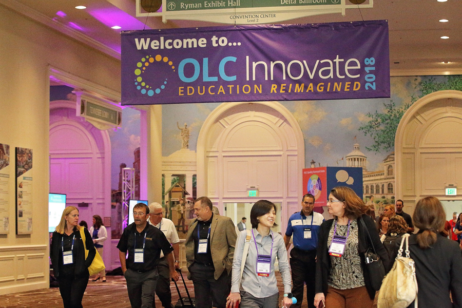 OLC Innovate 2018 hallway banner