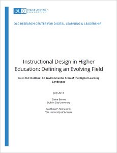 Olc Research Center For Digital Learning Leadership Instructional Design Learning Design