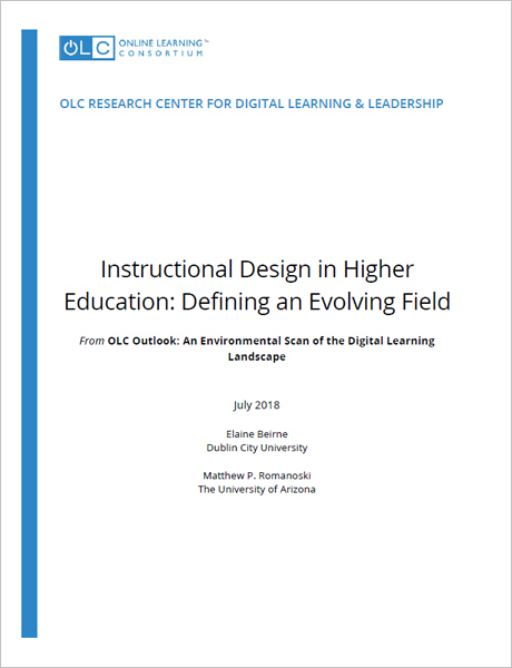Instructional Design In Higher Education Defining An Evolving Field
