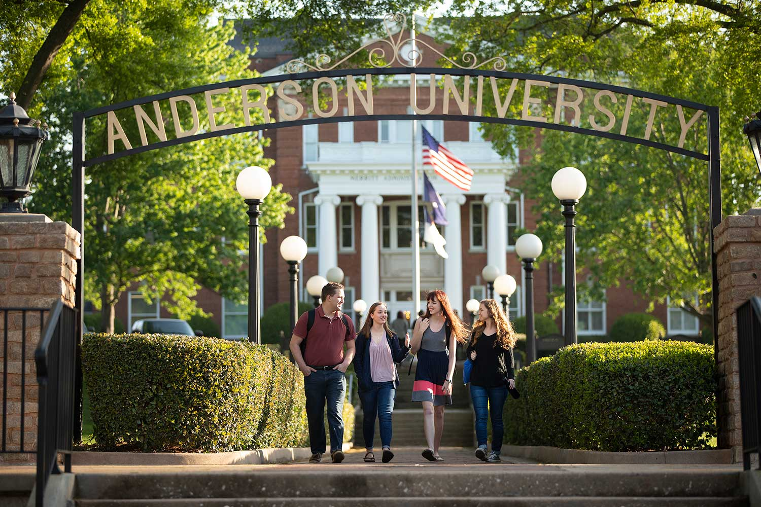 Anderson University arch