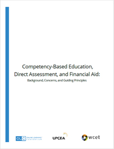 Competency-Based Education - Direct Assessment - Financial Aid Policy Brief