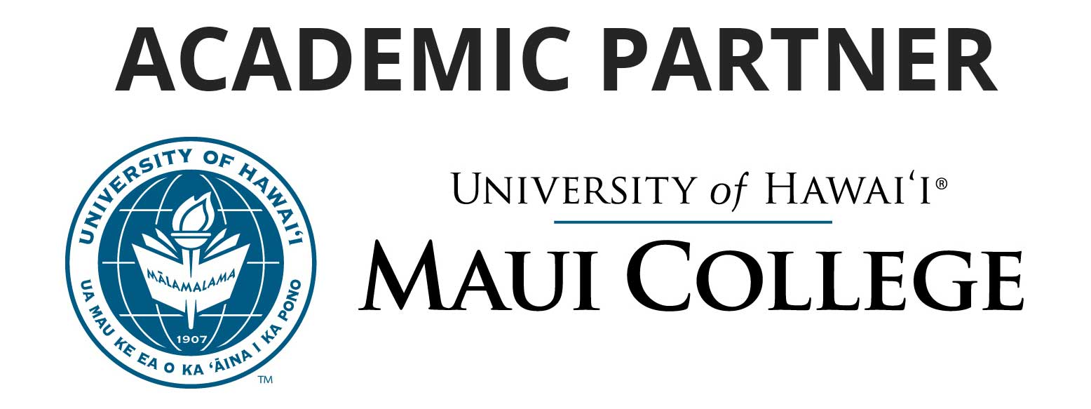 University of Hawai'i Maui College logo with academic partner