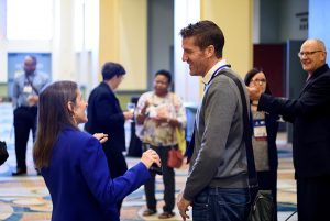 People Networking at EdTech Conference