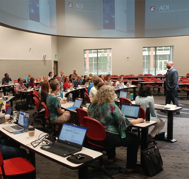 People attending Leadership Program for Online and Digital Learning
