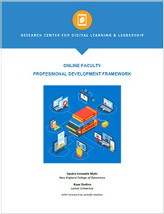 Online Faculty Professional Development Framework