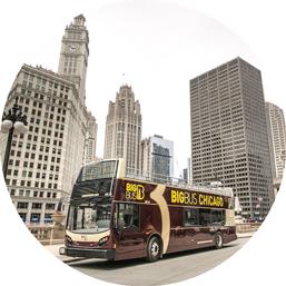 Chicago Big Bus tour in city