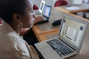 The Hechinger Report - woman on laptop