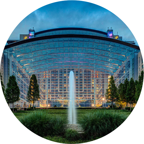 Gaylord National Resort and Convention Center Fountain (circle image)