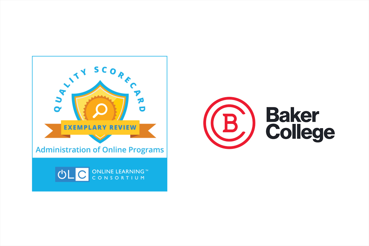 Image showing the Quality Scorecard Endorsement and Baker College Logo