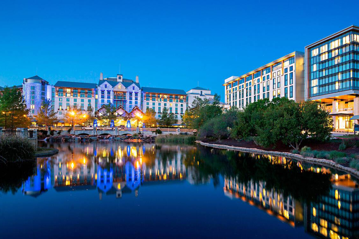 Exterior of the Gaylord Texan Resort & Convention Center in Dallas, Texas