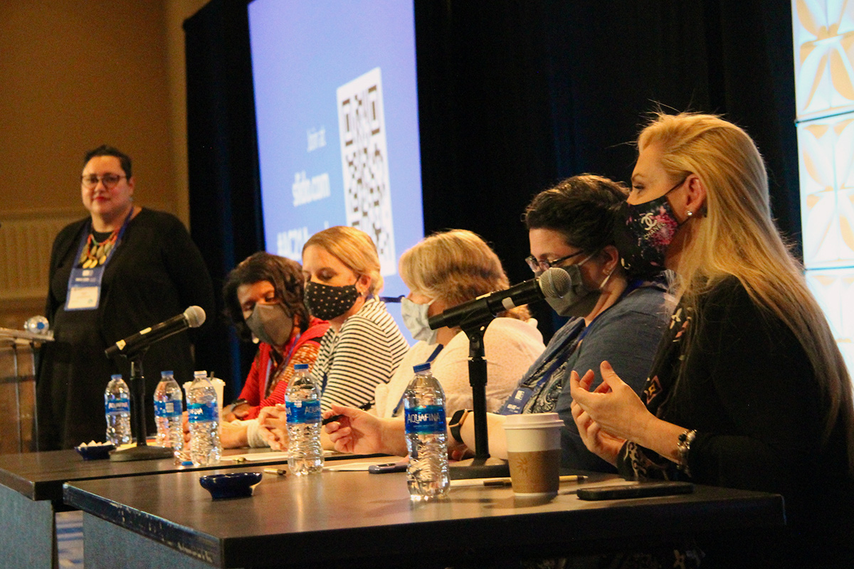 OLC Accelerate 2021 Award winners during a panel discussion moderated by Chief Academic Officer Angela Gunder